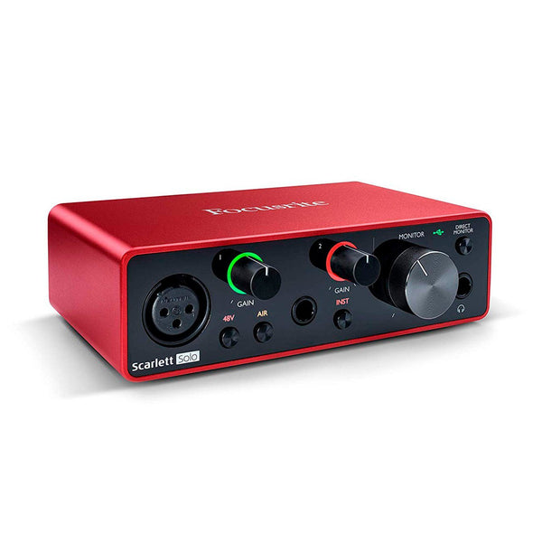 Focusrite Scarlett Solo (3ra generación) Interfaz de Audio StudioMusic.cl