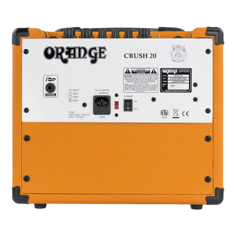 "Orange Crush 20 Amplificador de Guitarra Combo 20watts 1x8"" Amplificadores de Guitarra Orange"
