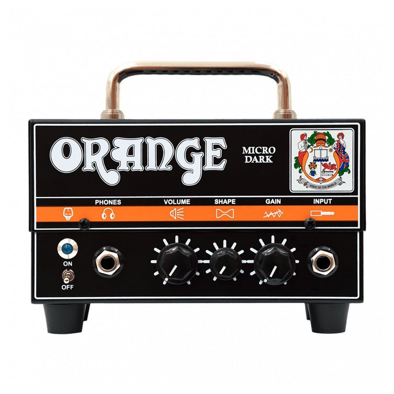 Orange Micro Dark Cabezal de Amplificador de Guitarra 20 Watts Amplificadores de Guitarra Orange