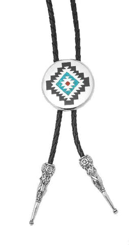 Bolo Tie - Aztec Design Made in the USA