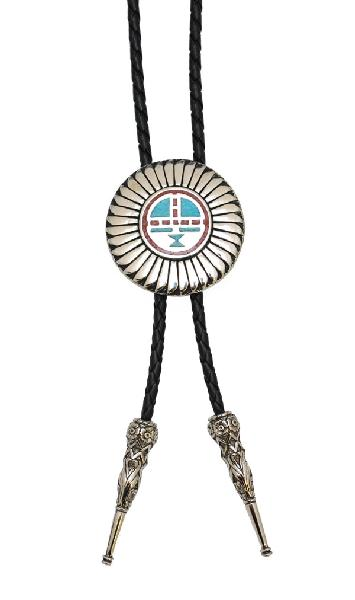 Bolo Tie - Kachina Sun Face Made in the USA