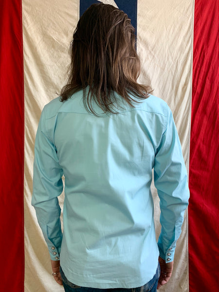 Cash Western Shirt - Clearwater Blue