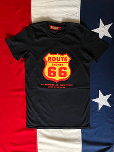 Route 66 Shield Logo T-Shirt - Black/Colour