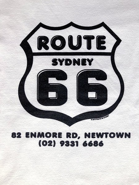 Route 66 Shield Logo T-Shirt - White/Black
