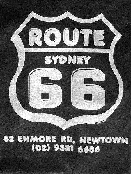Route 66 Shield Logo T-Shirt - Black/White