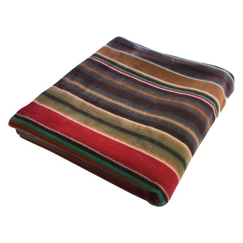 Native Serape Pattern Fleece Western Blanket - Stripe