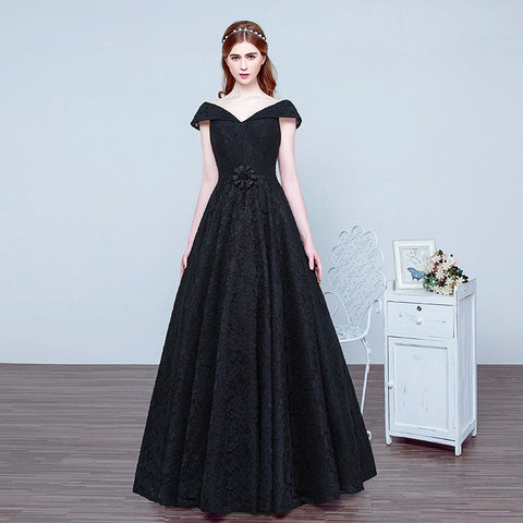 Amazing Long Black Gown