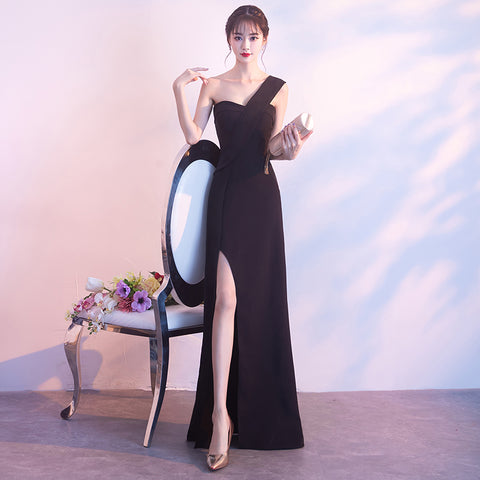 One Shoulder Prom Dress with Slit