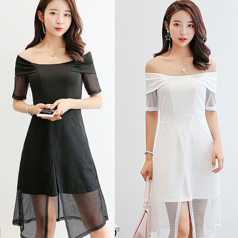 Simple Style Off Shoulder Short Dress