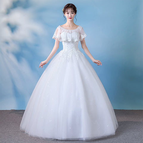 A-line Wedding Gown with Sheer Shawl