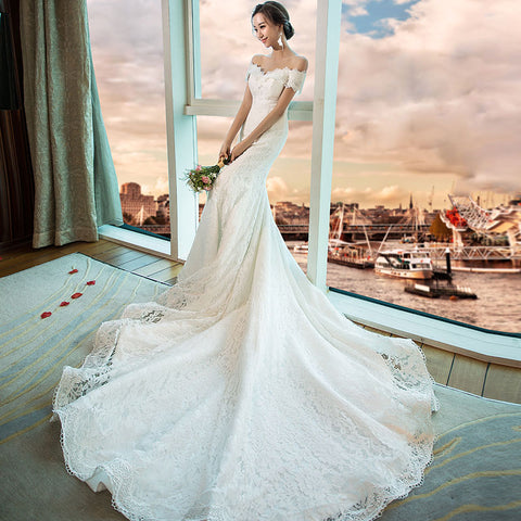 All Over Lace Mermaid Wedding Dress