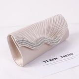 Shinny Satin Clutch Bag