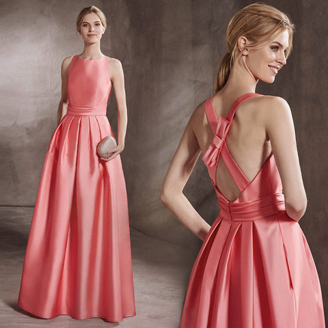 0f70b6b4e8c High Neck Open Back Evening Gown