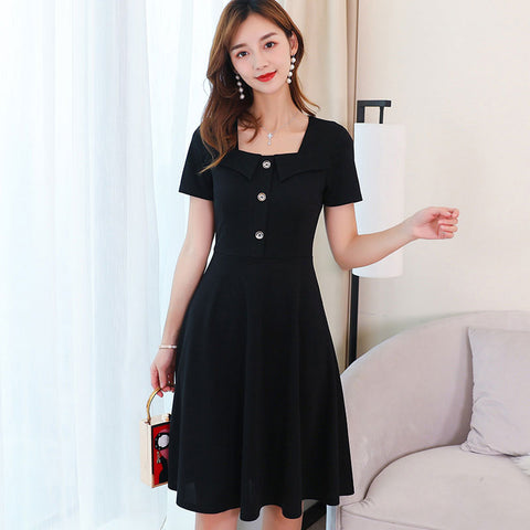 Short Sleeve Korean Style Dress