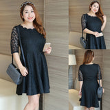 Plus Size Lace Short Dress
