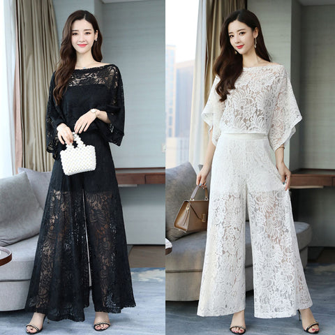 Lace Top and Pant Set Wear