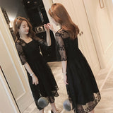 Plus Size Korean Style Short Dress