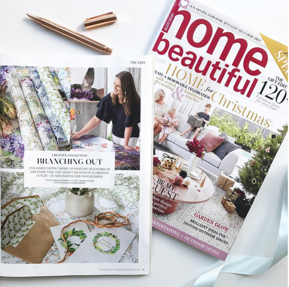 Take a peek behind the scenes of our feature in Home Beautiful