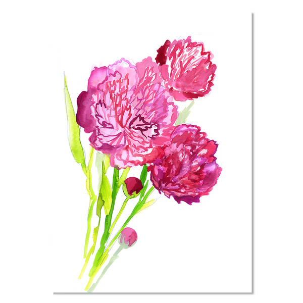 Card - Paeonia