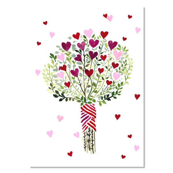 Card - Heart Bouquet