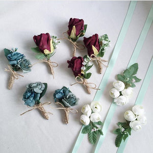 Flower Boutonniere In Artificial Flowers