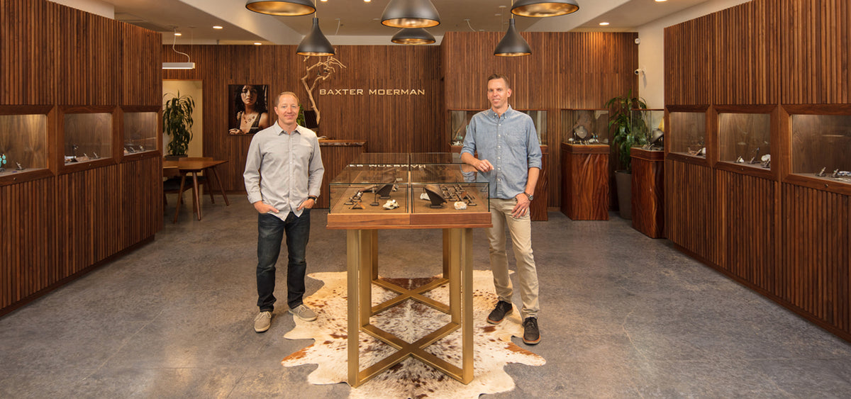 Matthew Baxter And Matthew Moerman in their San Luis Obispo Showroom.