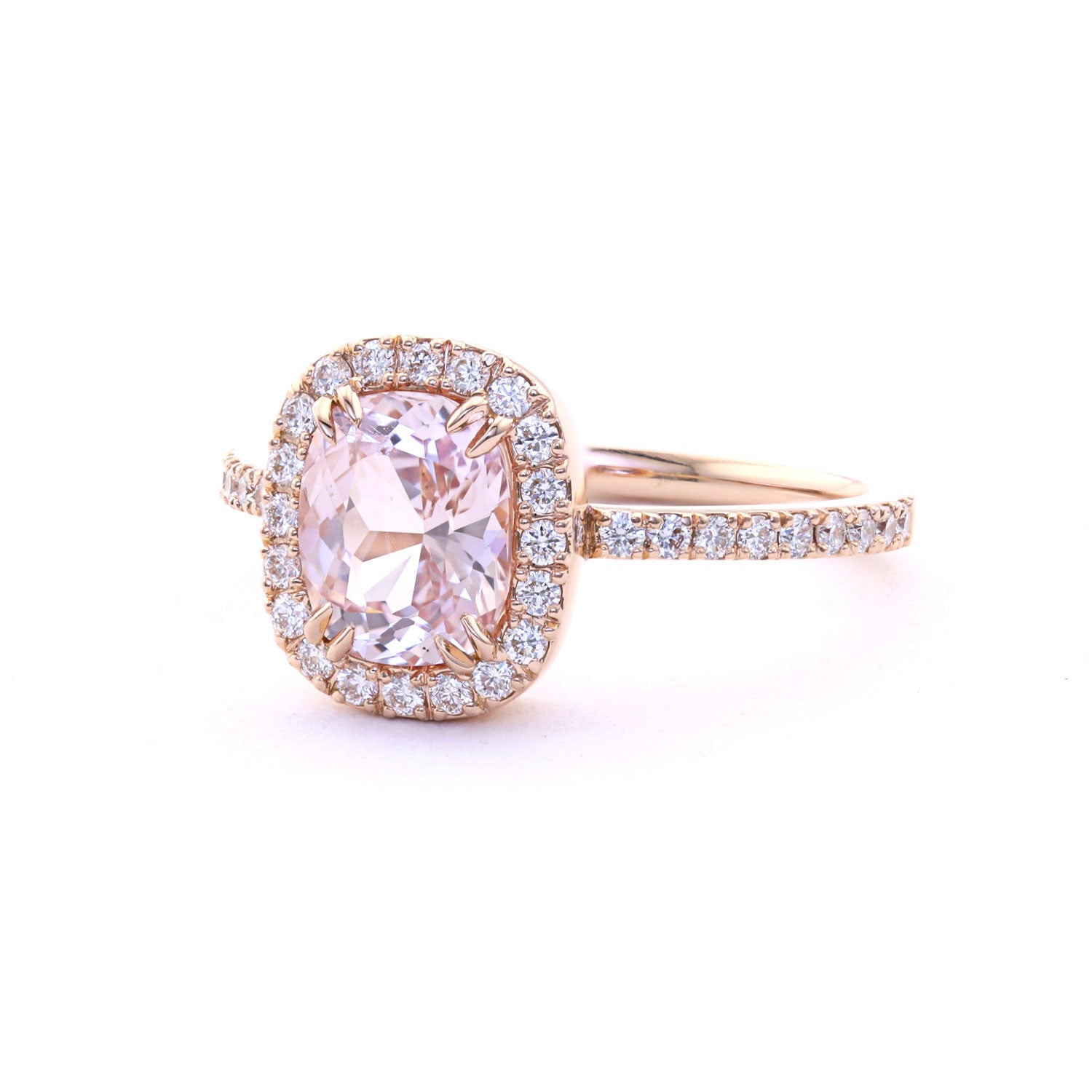 gold cushion rose cut product rare solitaire engagement in earrings sapphire solitare padparadscha ring home with