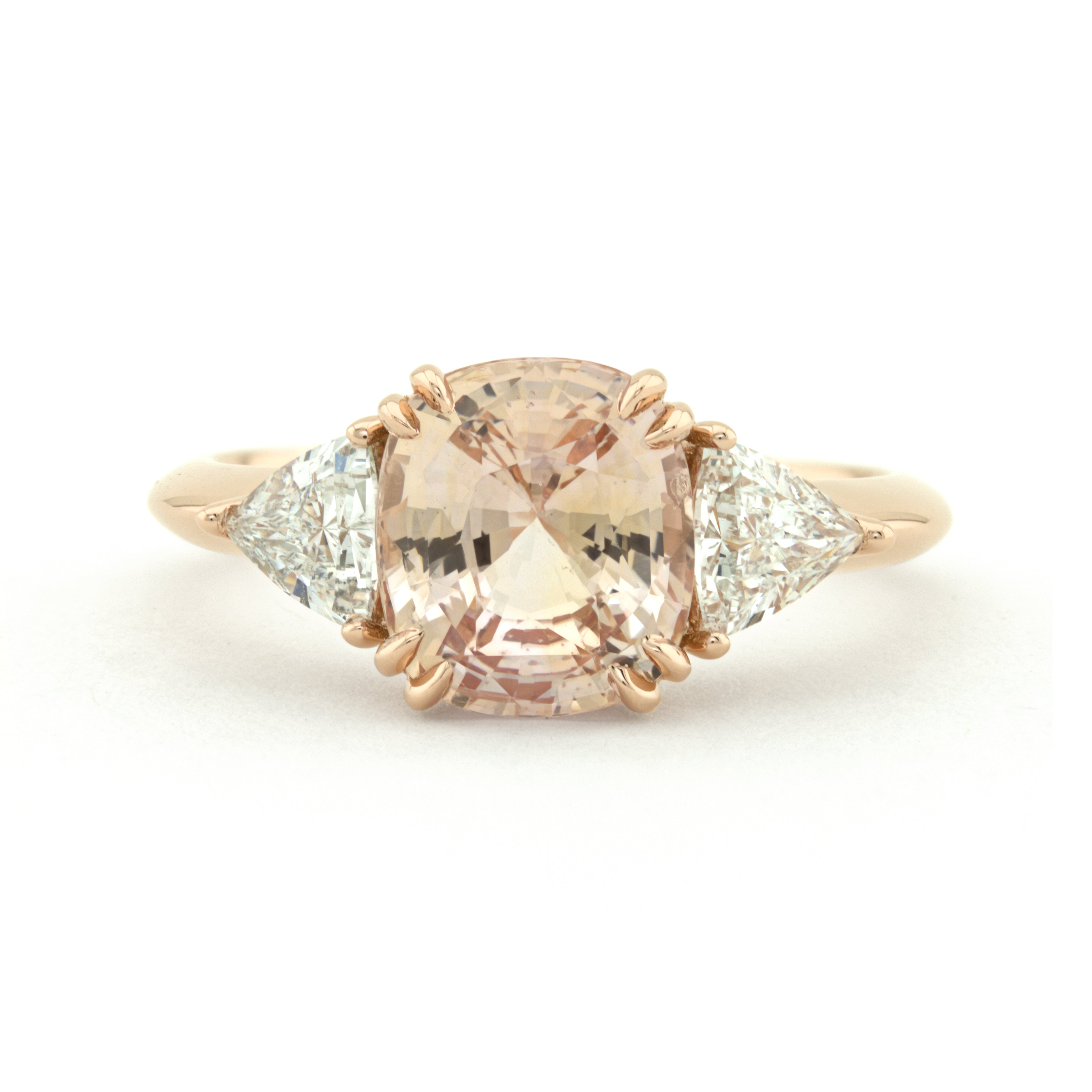engagement gold sapphire rose peach fullxfull eidelprecious listing ring diamond champagne by il