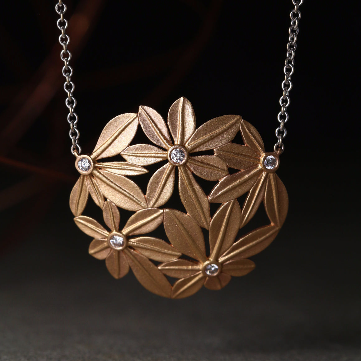 Botanica Necklace in Rose Gold - Large