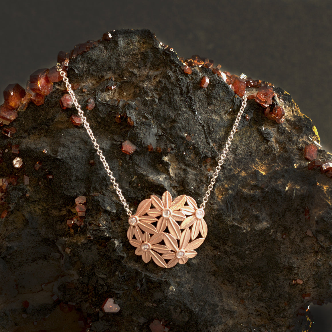 Botanica Necklace in Rose Gold - Small