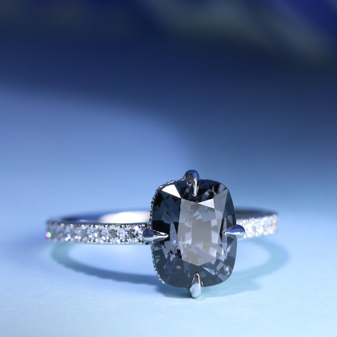 Celeste Ring with Grey Spinel
