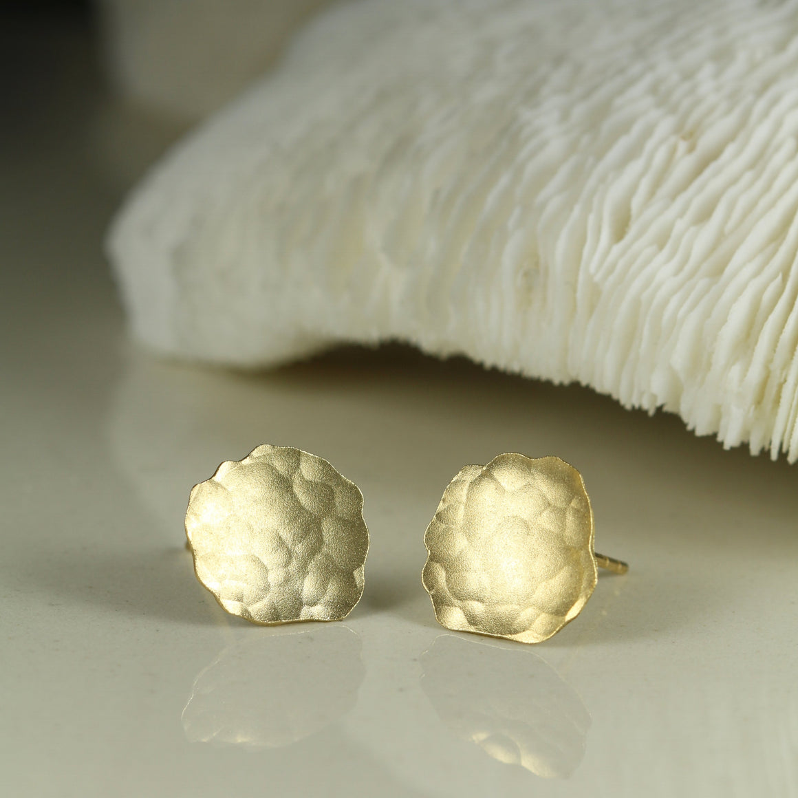 Cloud Studs in Yellow Gold