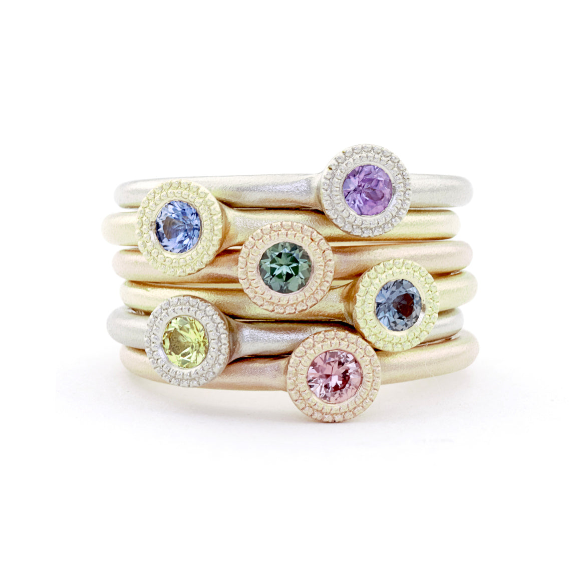 Bloom Stacking Ring with Yellow Sapphire