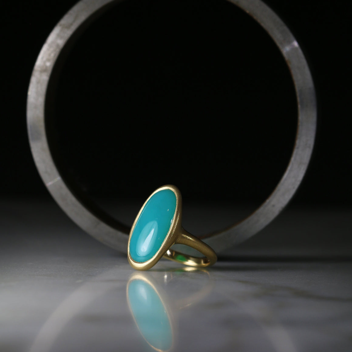Kira Ring with Oval Gem Silica