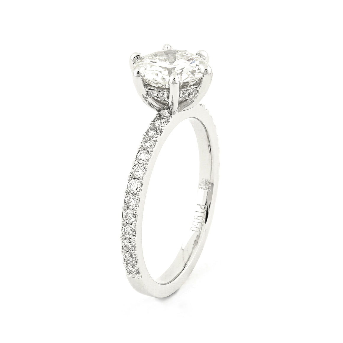 Grace Diamond Solitaire Ring in Platinum
