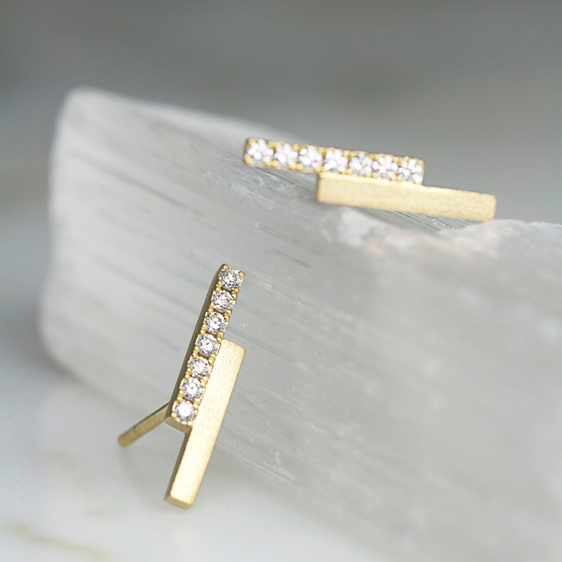 Lightning Studs in Yellow Gold