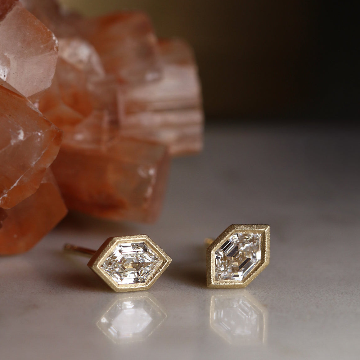 Hex Diamond Studs
