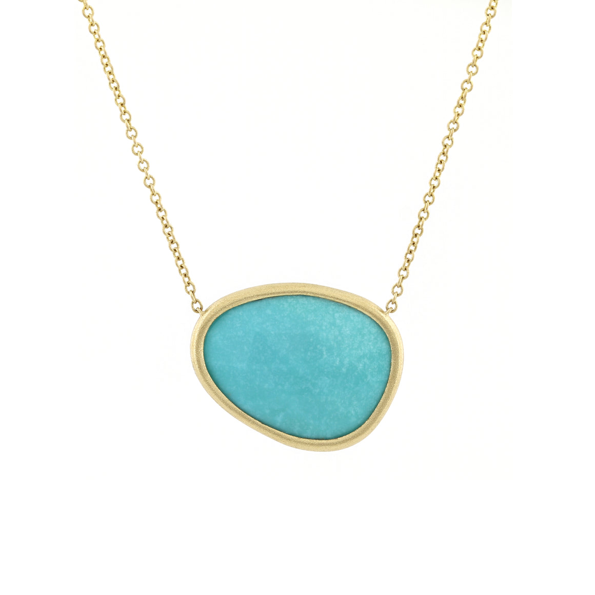 Piedras Necklace with Turquoise in Yellow Gold
