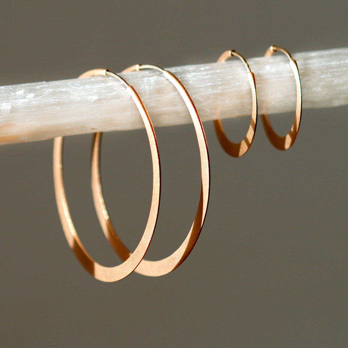 Endless Hoop Earrings in Polished Rose Gold - 2 inch