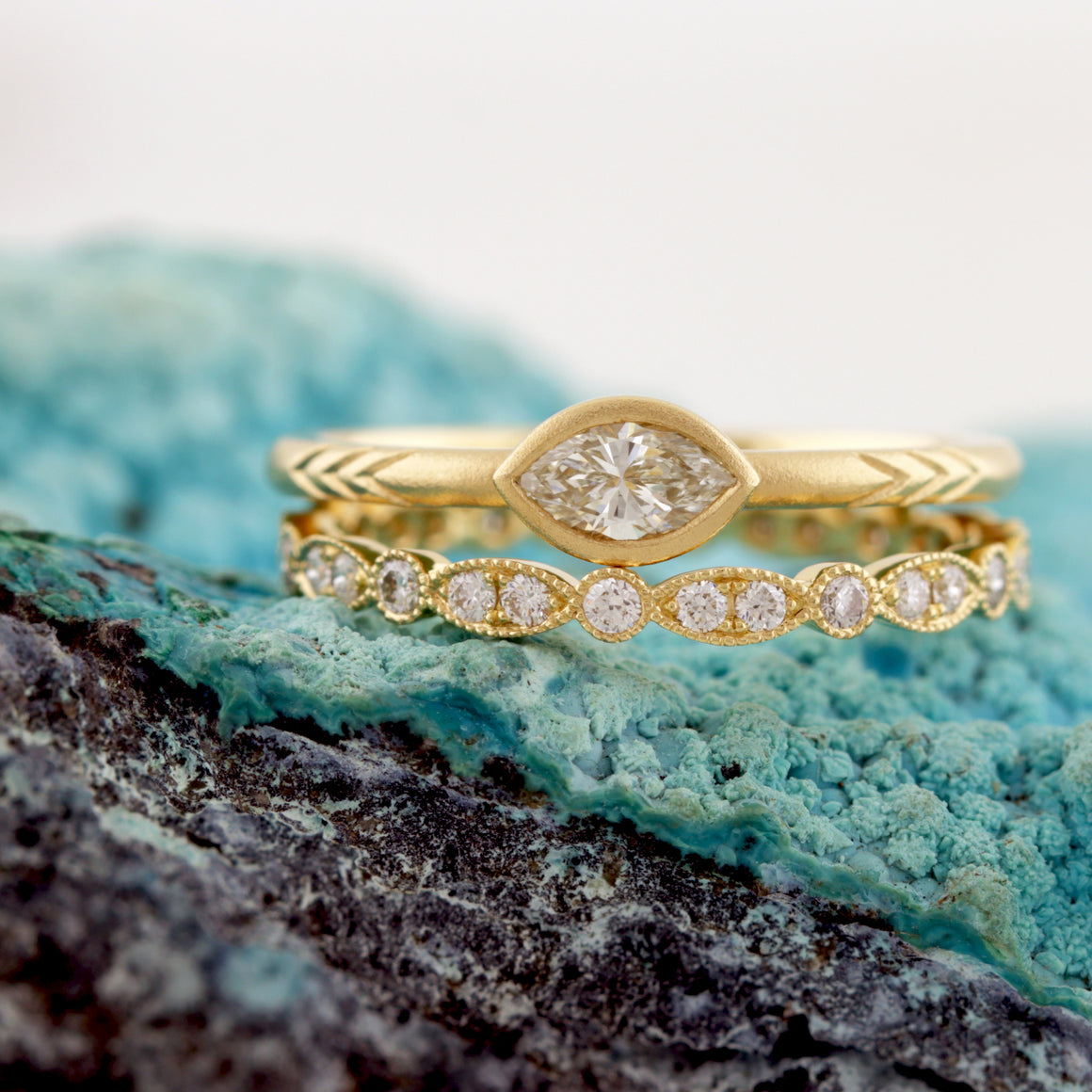 Shelby Marquise Ring in Yellow Gold