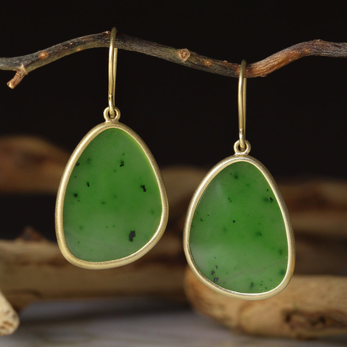 Siberian Jade Drop Earrings