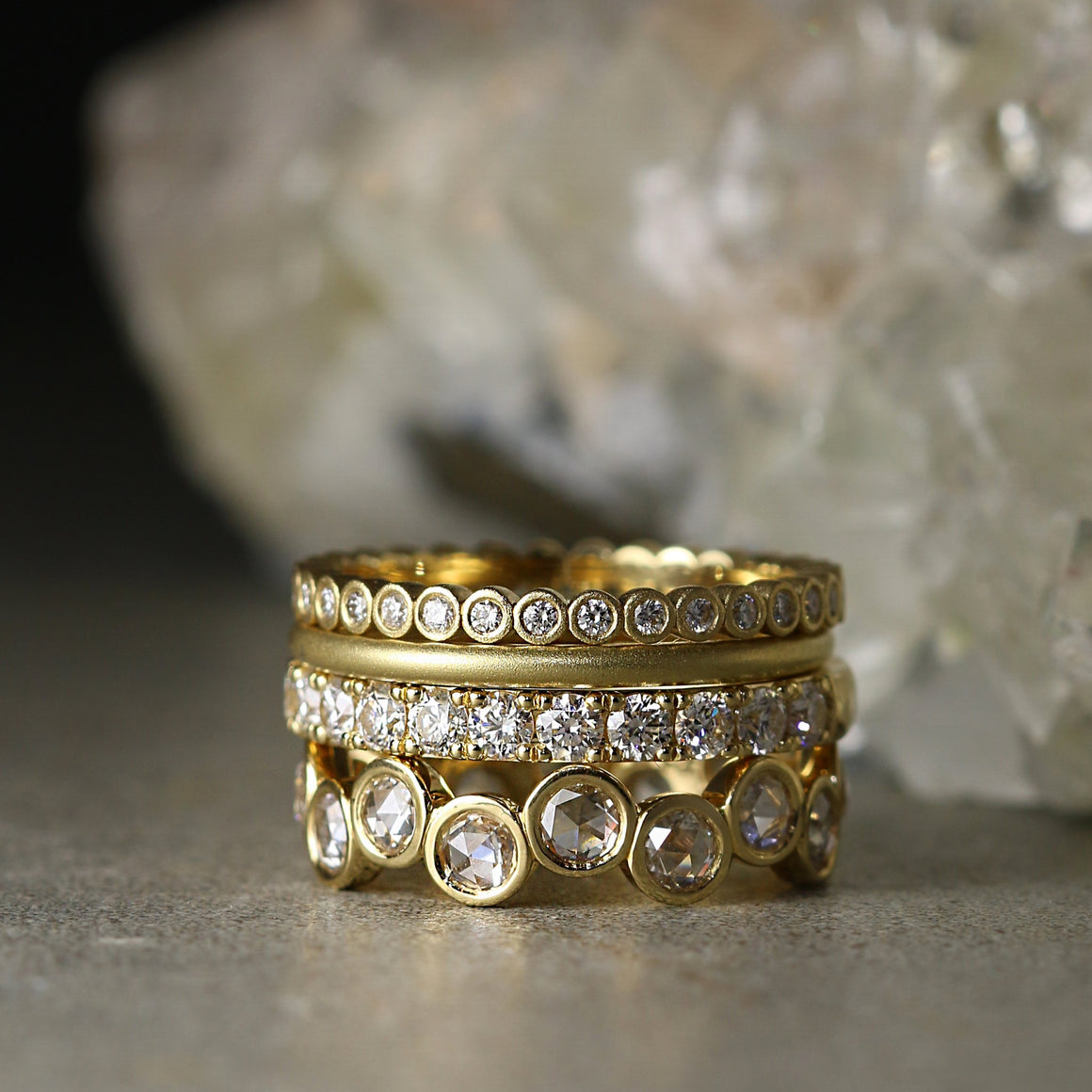 Evie Eternity Band with Rose Cut Diamonds