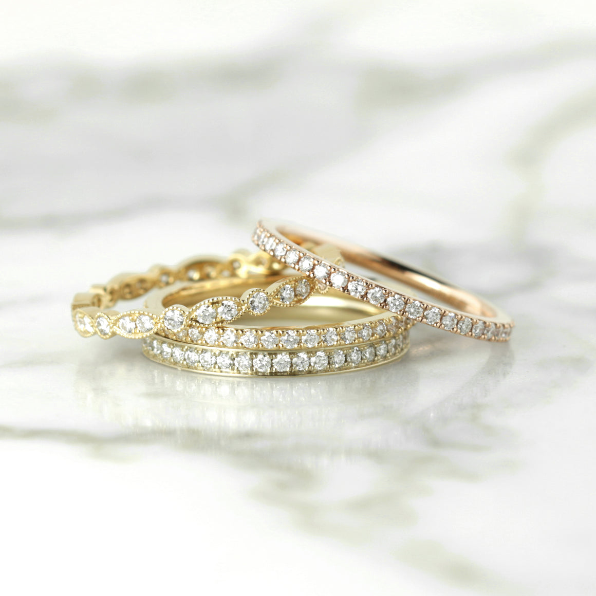 Ava Diamond Eternity Band in Rose Gold