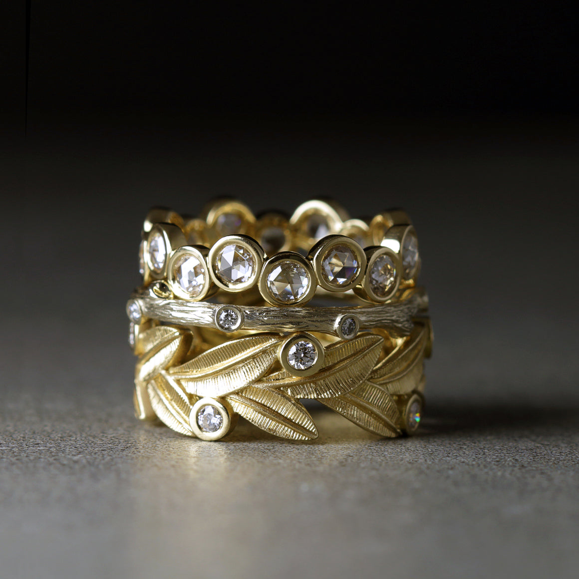 Botanica Ring in Yellow Gold