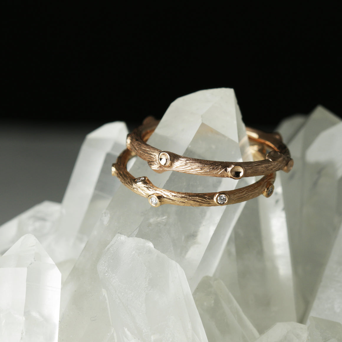 Woodland Diamond Branch Band in Yellow Gold