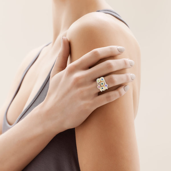 1f5602b1373a6 Bloom Stacking Ring with Yellow Sapphire