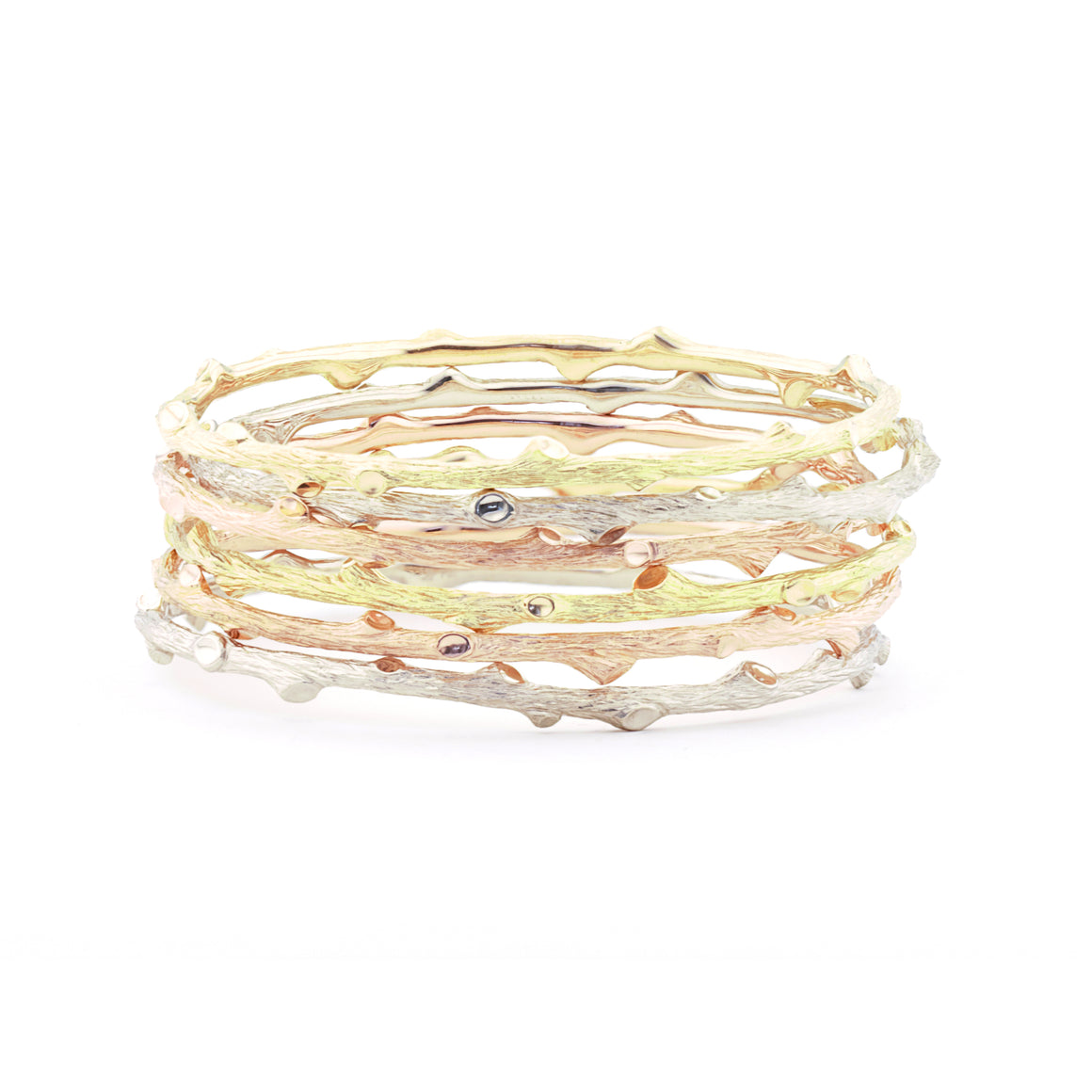 Woodland Branch Bangle in Yellow Gold