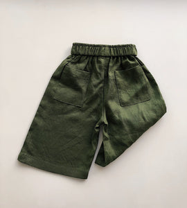 Póca pants in olive linen