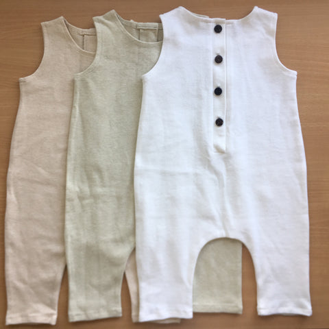 Undyed cotton romper