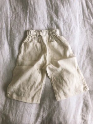 Póca pants in milk linen